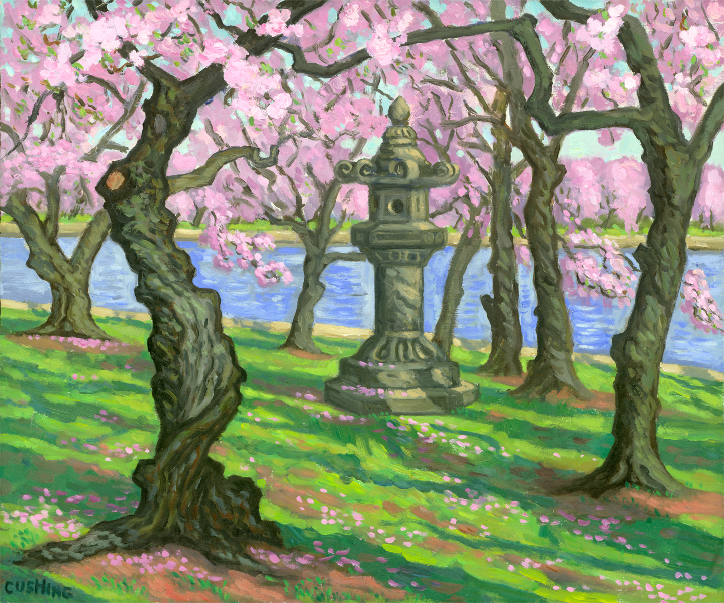 """Japanese Lantern, Washington, D.C."" 18 x 24"" (sold)"