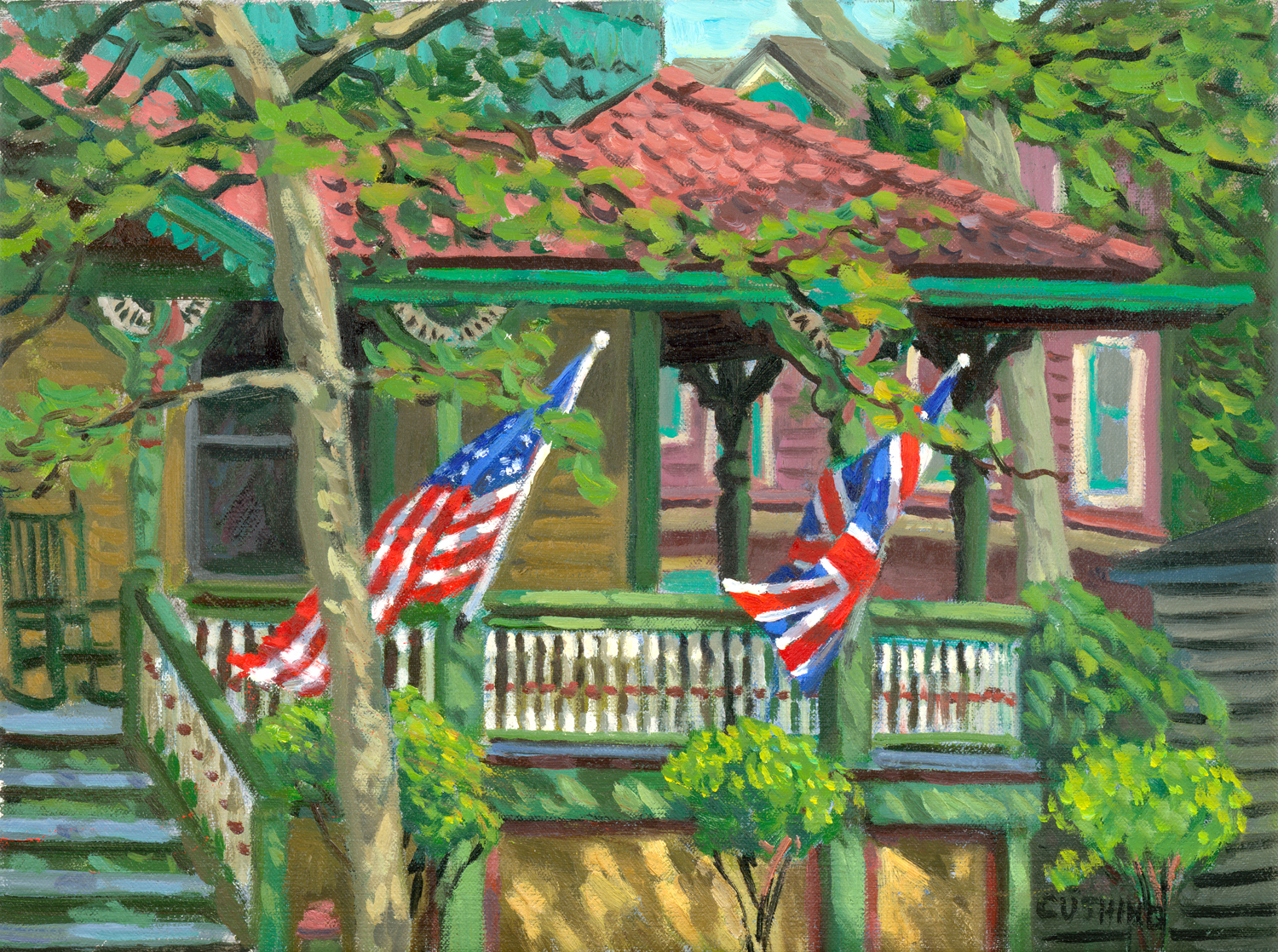 """""""Flags, Cape May"""" 12 x 16"""" (sold)"""
