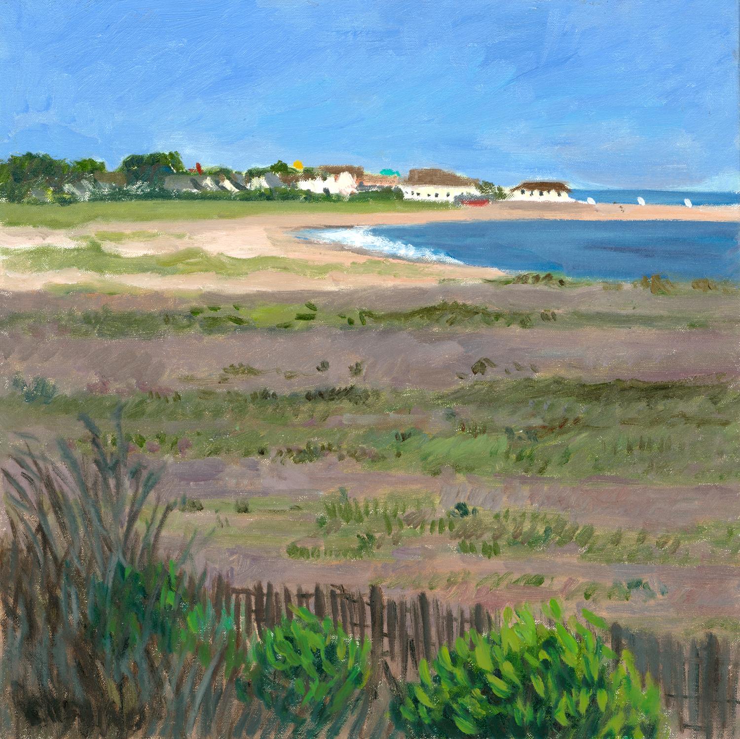 """""""Cape May From Cape May Point"""" 16 x 16"""" (sold)"""