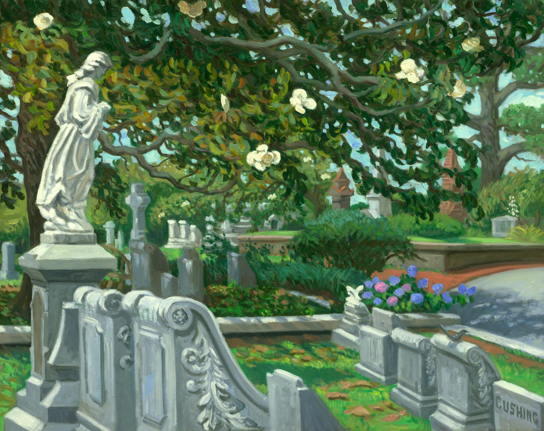 """""""Magnolias, Oakland Cemetery, Atlanta"""" 24 x 30"""" (sold)"""