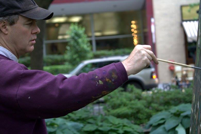 painting in Rittenhouse Square....