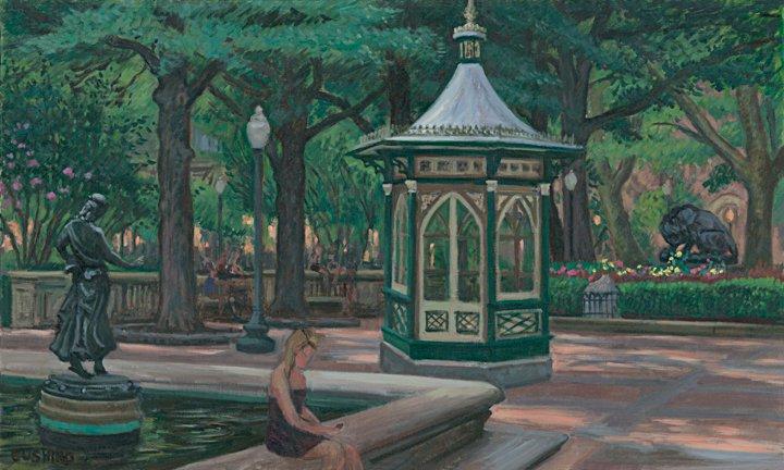 """Summer, Rittenhouse Square""  24 x 36"" (sold)"