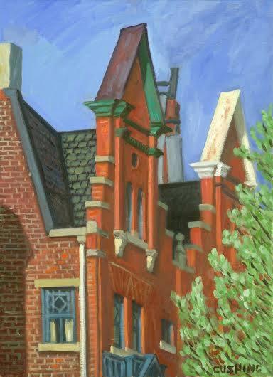 """Facades, Spruce Street""  24 x 18"" (sold)"