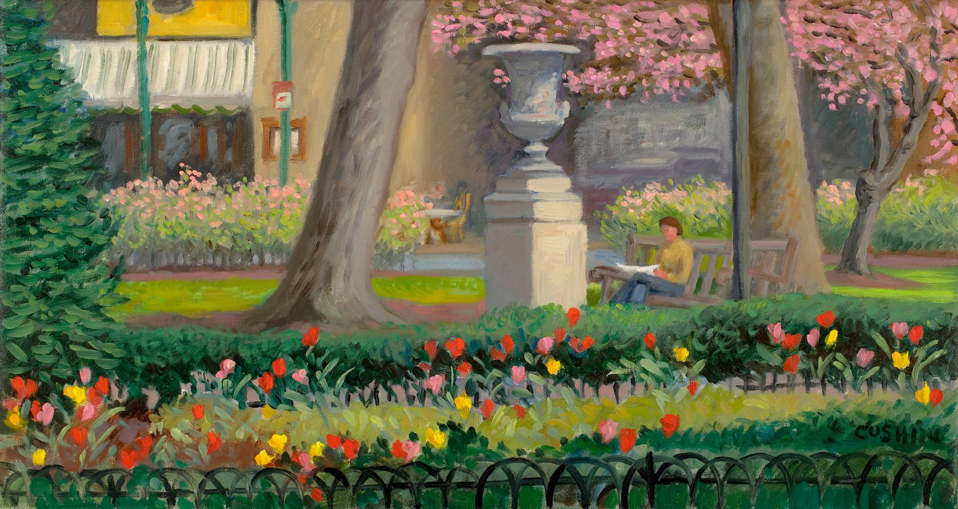 """Tulips, Rittenhouse Square""  12 x 24"" (sold)"