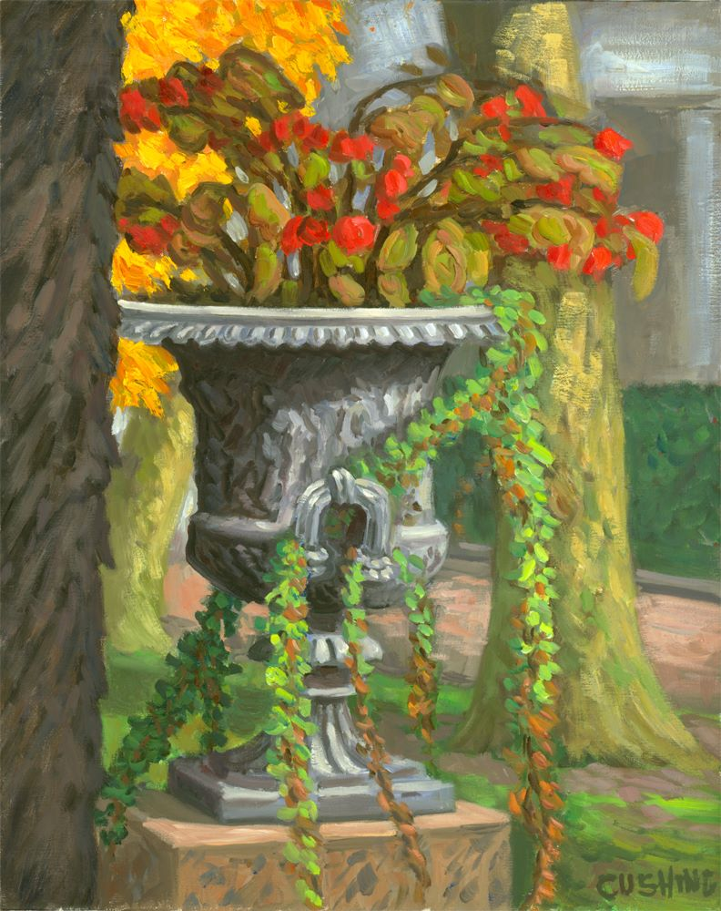 """""""Autumn Urn, Rittenhouse Square""""  20 x 16"""" (sold)"""