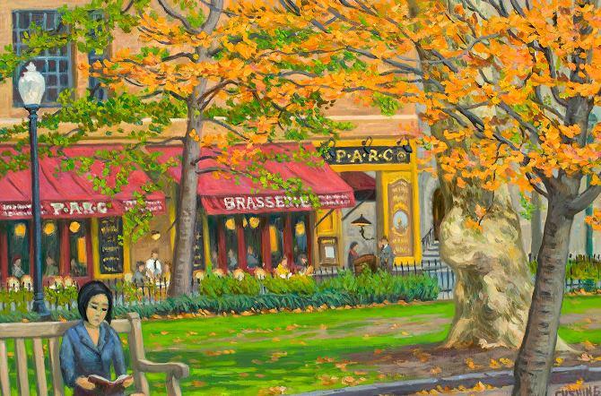 """Autumn, Rittenhouse Square""  20 x 30"" (sold)"