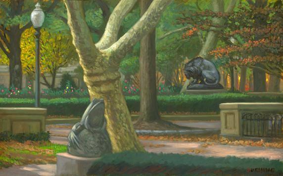 """November, Rittenhouse Square"" 24 x 36"" $3500.00"