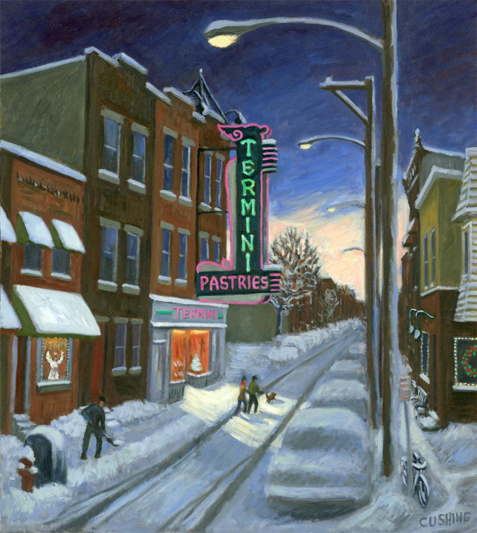 """""""Termini's at Christmas""""  24 x 18"""" (sold)"""