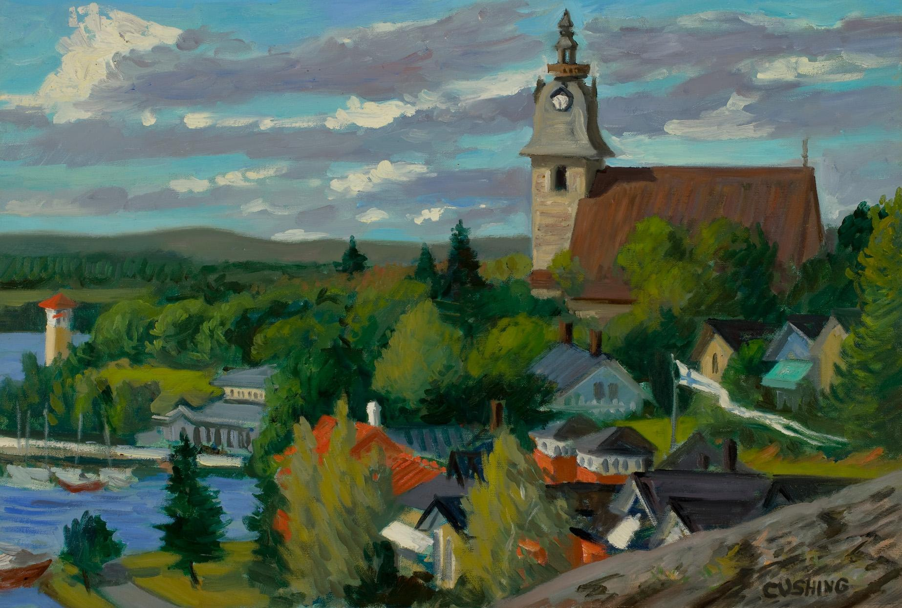 """""""Church at Naantalie""""  18 x 24"""" (sold)"""