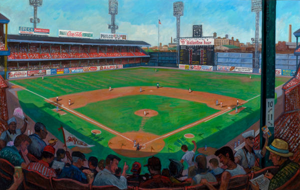 """Connie Mack Stadium, 1963""  48 x 78"" (sold)"