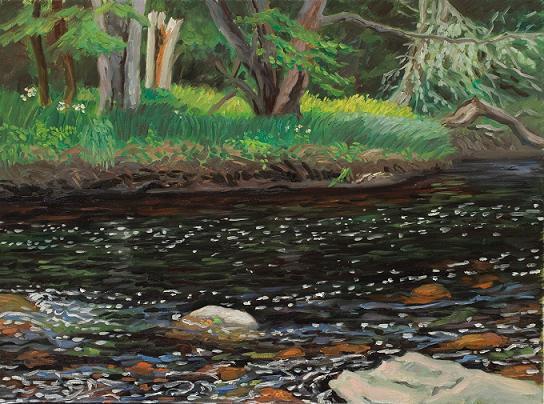 """""""Mersy River, Nova Scotia"""" 24 x30"""" $2,000.00"""