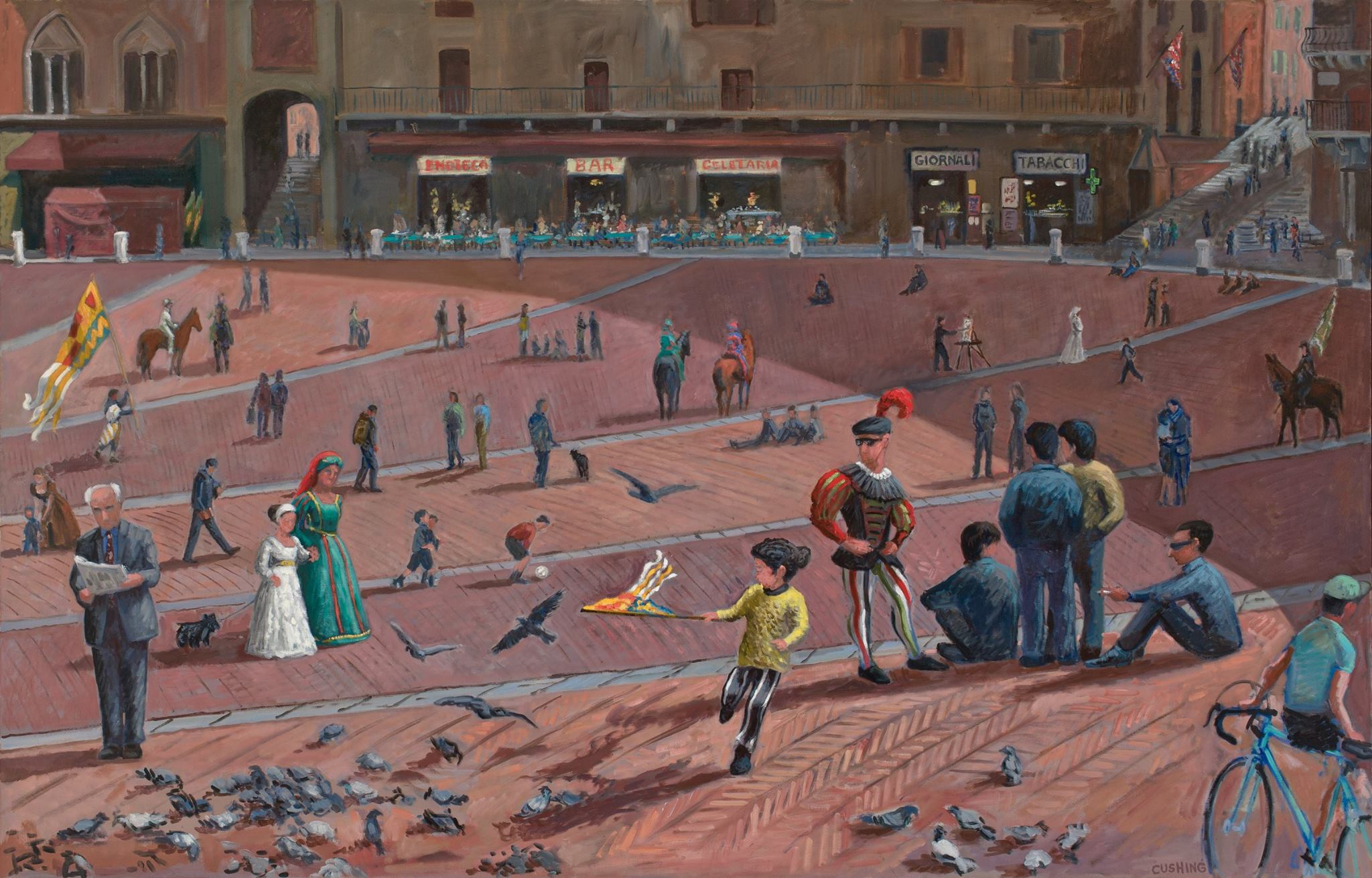 """""""The Piazza, Siena, Italy""""  48 x 72"""" $7500.00"""