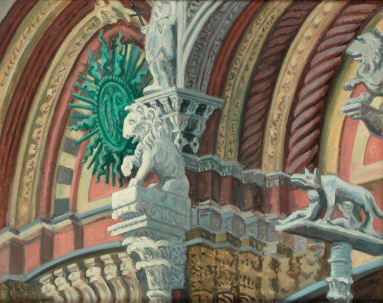 """""""Pisano's Lion, Siena, Italy"""" 30 x 40"""" (sold)"""