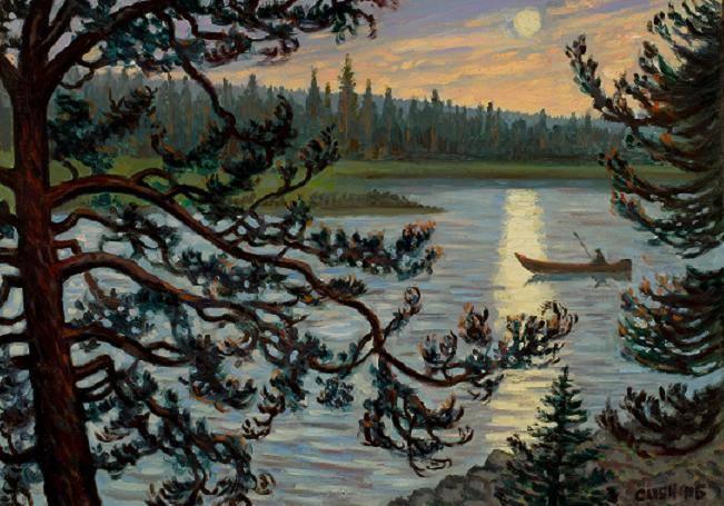 """""""Midnight Sun, Kemijoki River"""" 19 x 27"""" $1750.00"""