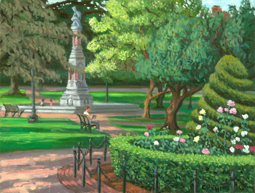 """Roses, Boston Public Garden""  20 x 24"" (sold)"