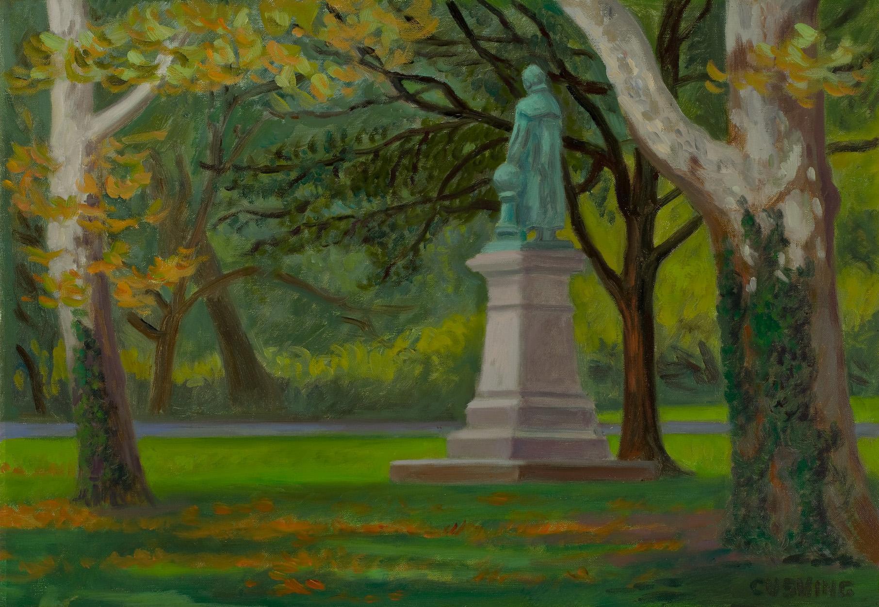 """Humboldt Statue, Fairmount Park""  16 x 20"" (sold)"