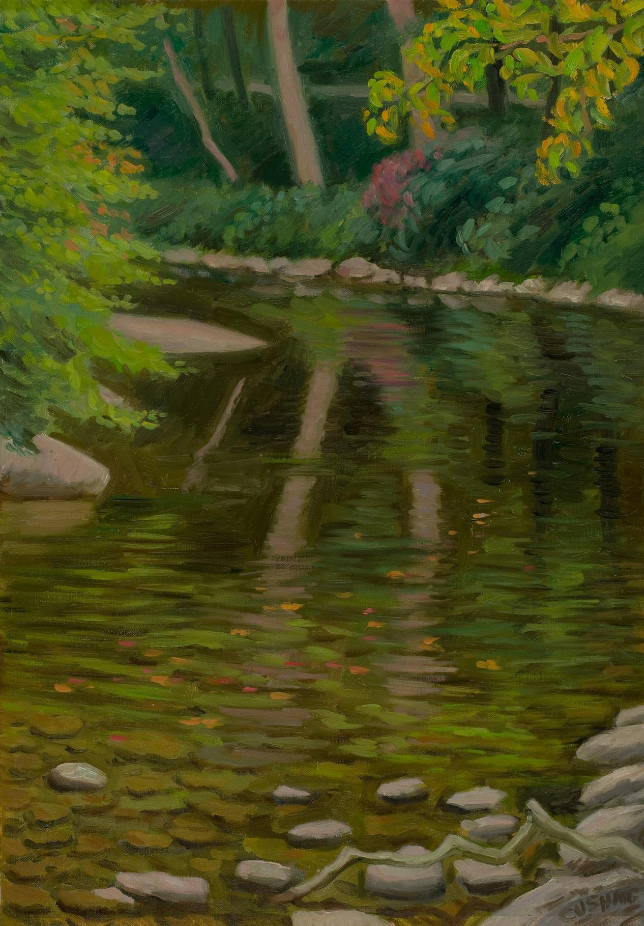 """""""Wissahickon Reflections""""  20 x 16"""" (sold)"""