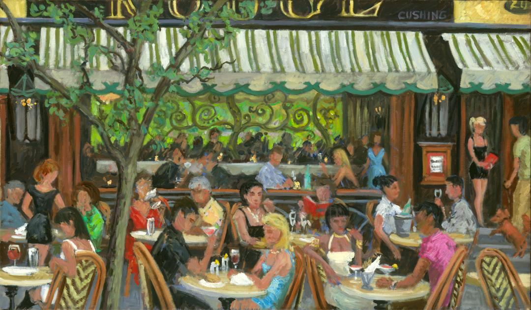 """""""Diners at Rouge""""  24 x 40"""" (sold)"""