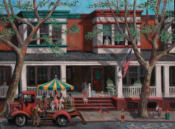 "Childhood Home of Lewis Katz, Camden""  24 x 36"" (sold)"