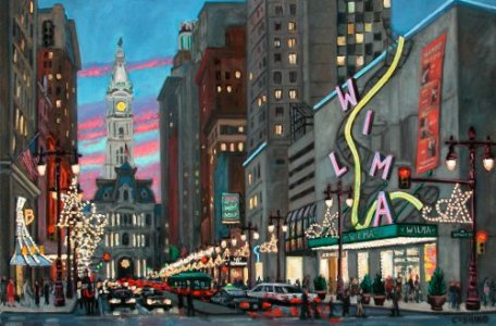 """wilma Theatre""  20 x 30"" (sold)"
