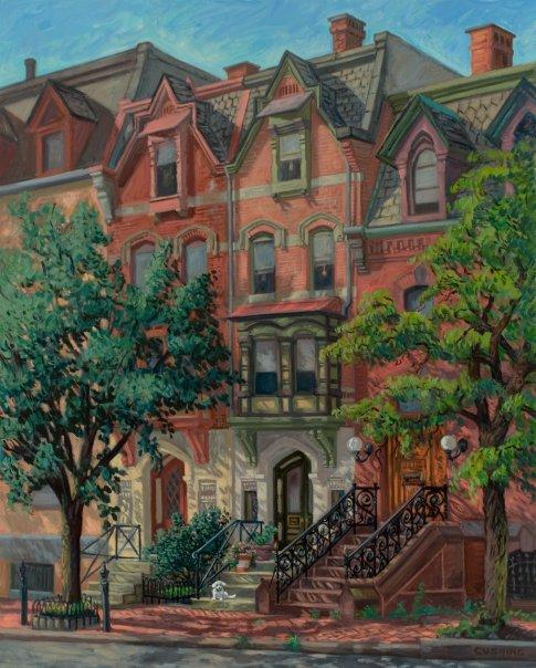 """Furness Houses, Philadelphia""  48 x 36"" (sold)"