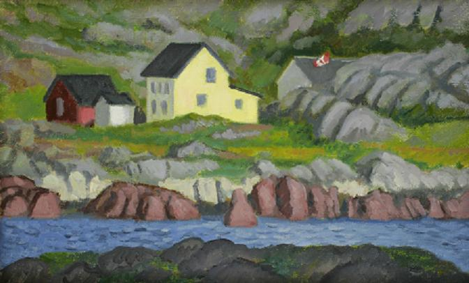 """""""Yellow House, Keels, Newfoundland""""  12 x 16""""  (sold)"""