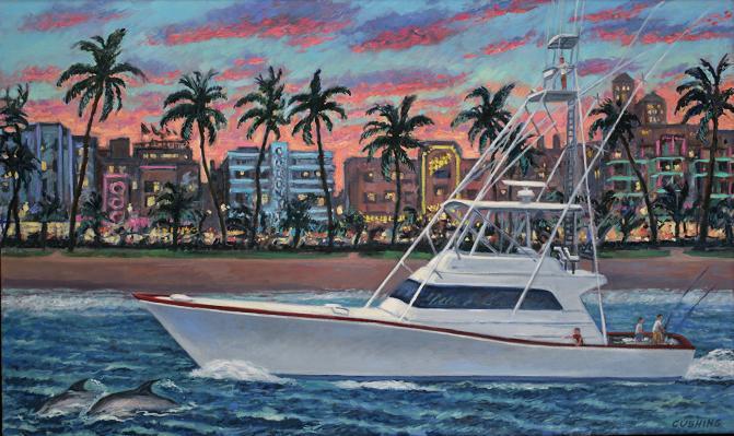 """Yacht,  South Beach""  24 x 40"" (sold)"