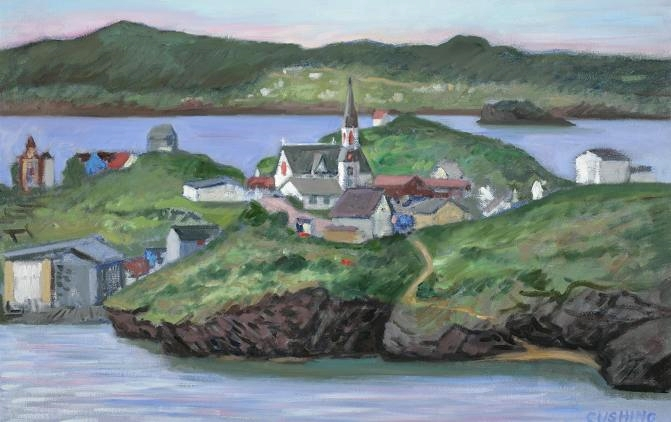 """""""Trinity, Newfoundland""""  12 x 28""""  $1500.00"""
