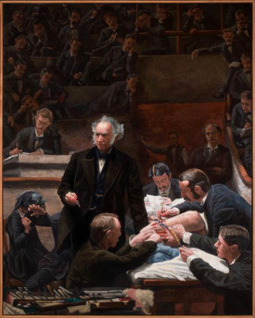 """Full-sized copy of 'The Gross Clinic"""" (Thomas Eakins) painted in 2007"""