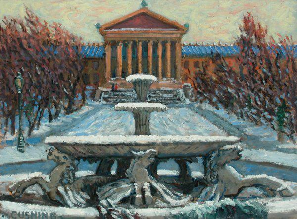 """Italian Fountain, Philadelphia Museum Of Art""  20 x 30"" (sold)"