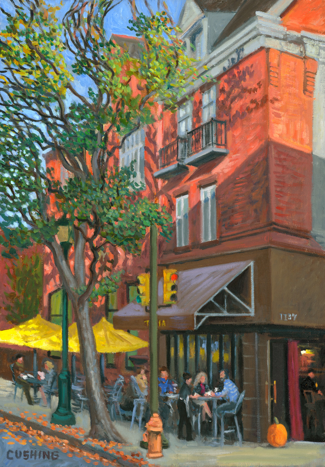 """""""TRIA, 12 and Spruce Streets"""" 27 x 19""""  (sold)"""