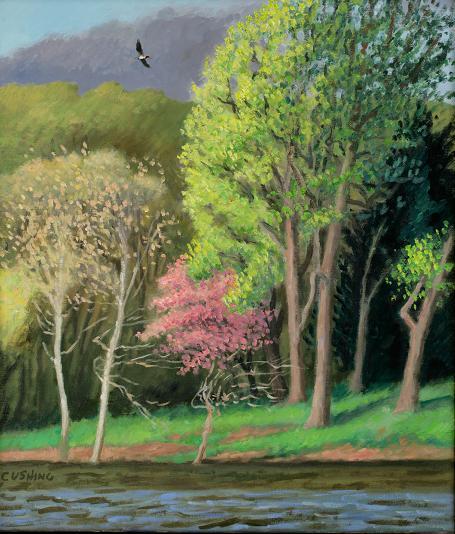 """""""Osprey, Delaware River""""  24 x 18""""  (sold)"""