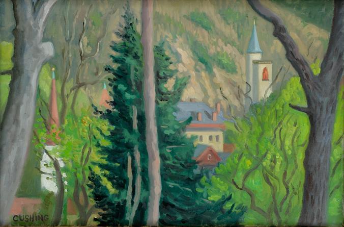 """""""View of Jim Thorpe, Pa.""""  18 x 26""""  $1500.00"""