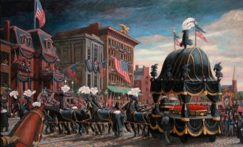 """""""Lincoln Funeral Cortege, Philadelphia, 1865"""" 48 x 84"""" (in the collection of The Union League of Philadelphia"""")  """""""