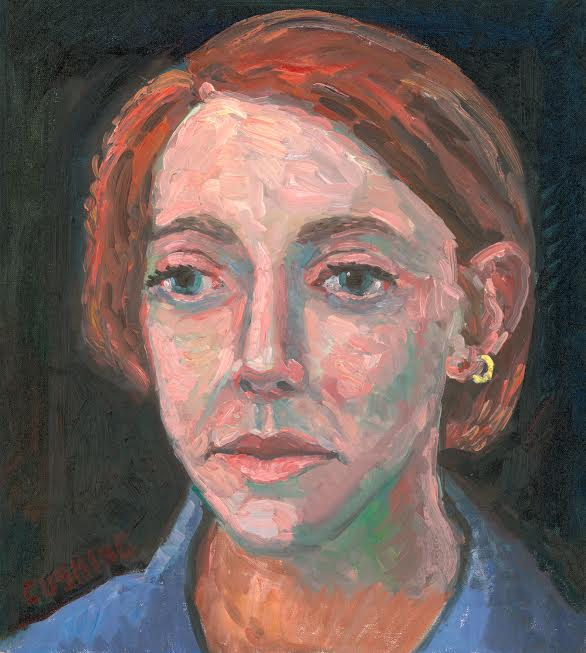 """Vera Portrait with Earring""   20 x 18'""   (price on request)"