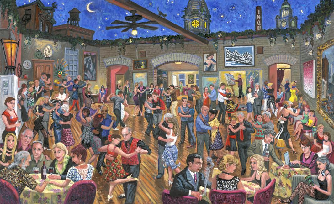 """Tango Dancers at Buttonwood Studio""  32 x 52""  $10,000.00"