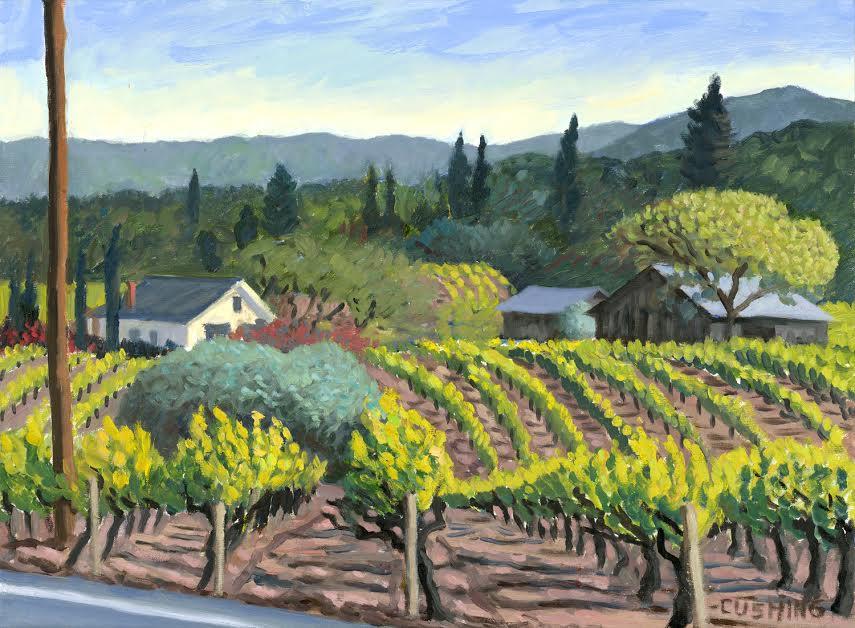 """Vineyard Near Ukiah, California""  17 x 23""  (sold)"