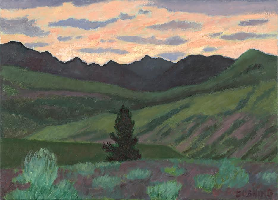 "Mountain Range From Yellowstone Park""   18 x 20""  $1250.00"