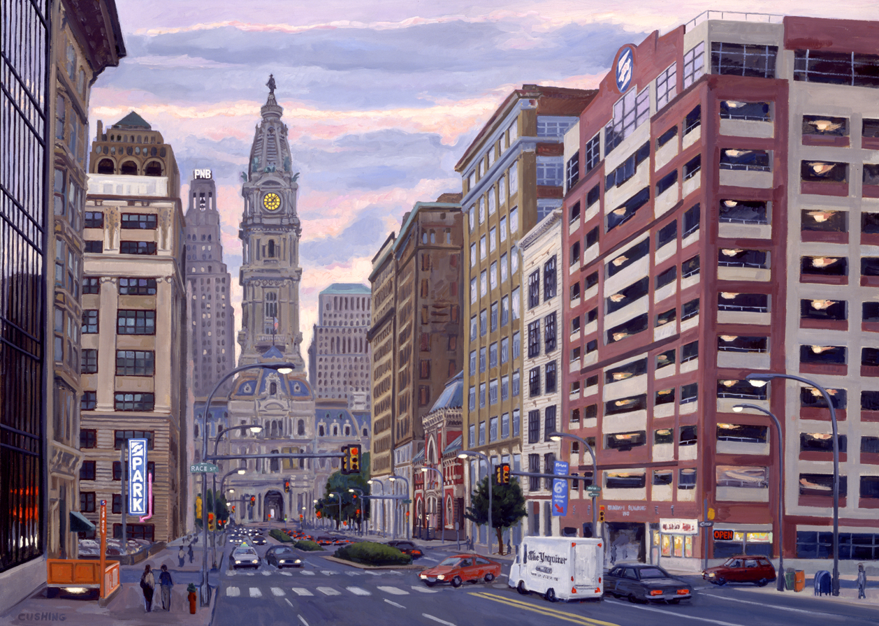 """Parkway Corporation, North Broad Street""  48 x 66"" (sold)"