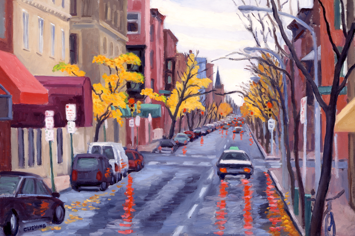 """""""19th and Spruce Streets""""  16 x 24"""". (sold)"""