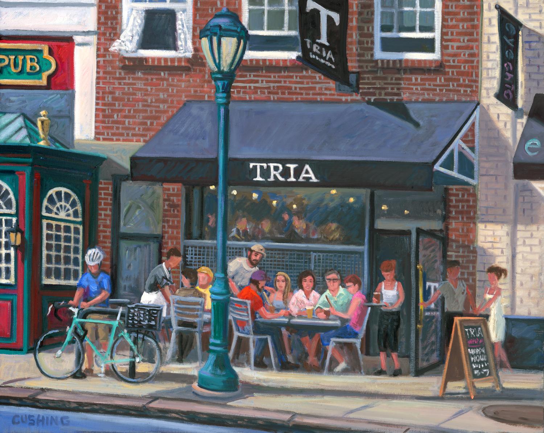 """""""TRIA, Walnut Street, Philadelphia""""  24 x 30""""  (sold)"""