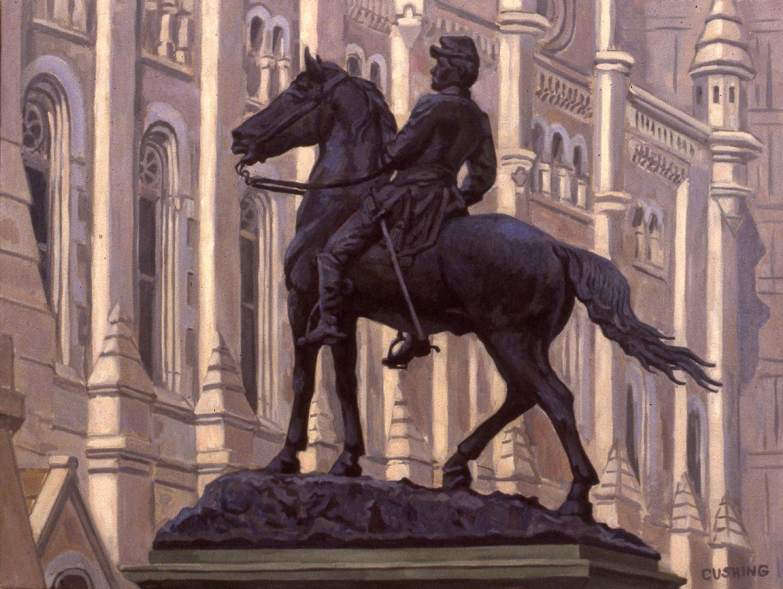 "McClellan Equestrian and Masonic Temple""  24 x 30""  (sold)"