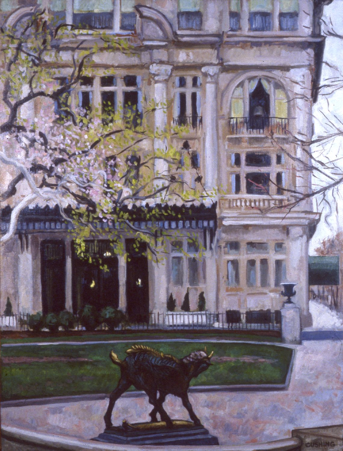 """""""Early Spring, Rittenhouse Square""""  40 x 28""""  (sold)"""