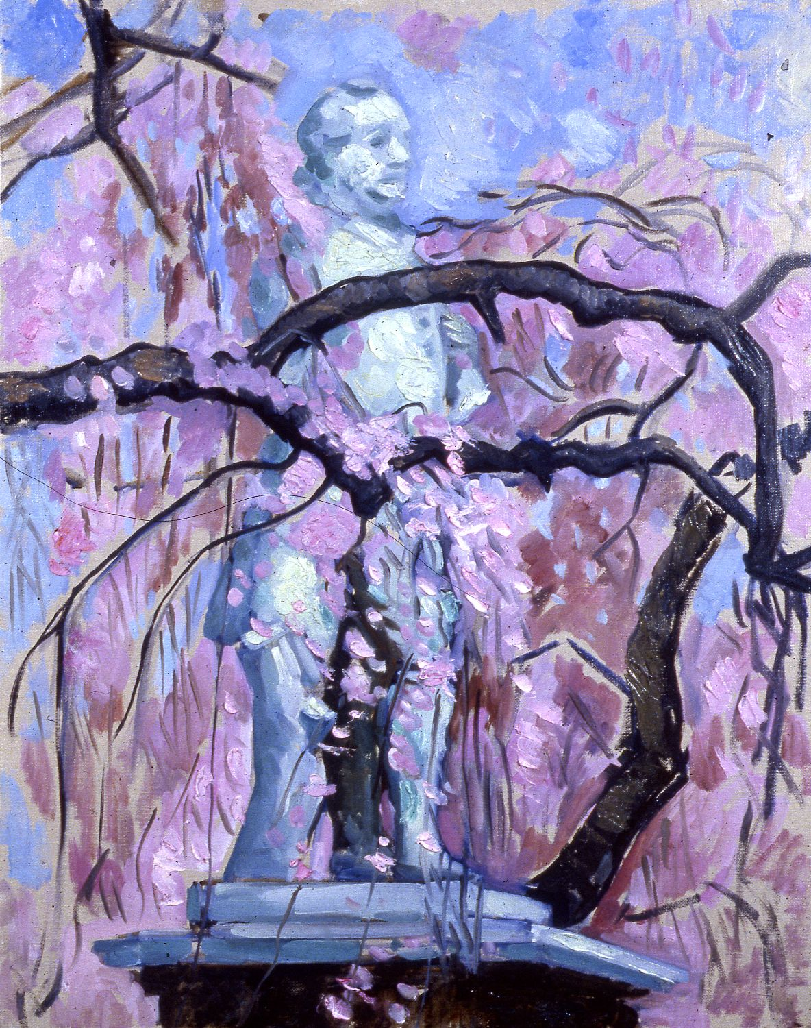 """""""Goethe and Cherry Blossoms""""   20 x 16""""  (sold)"""