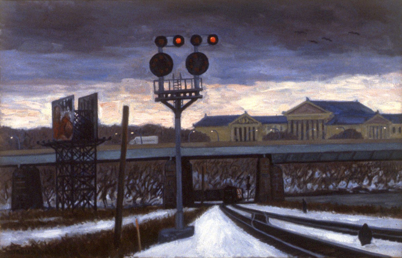 """Winter Tracks, Art Museum""  32 x 50""  (sold)"