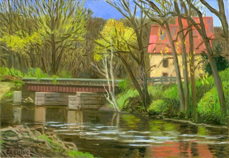 """""""Early Spring, Stockard's Mill, Near Lambertville, Pa.""""  22 x 32""""  $1750.00"""