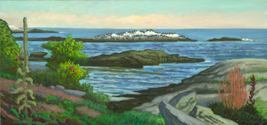 """Coastline, Newport, Rhode Island"" . 12 x 24"" (sold)"