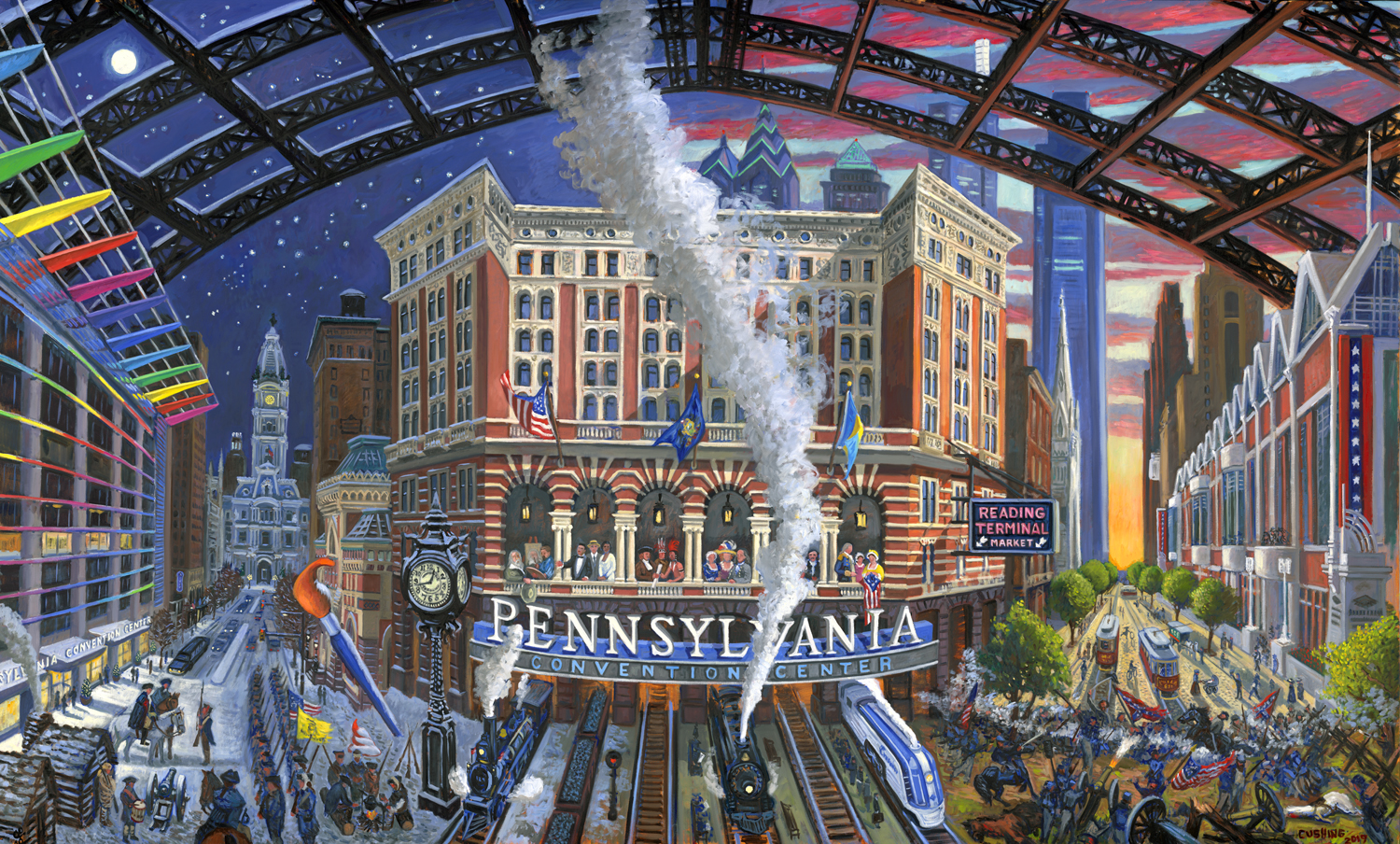 "The Pennsylvania Convention Center""   72 x 120""   (sold)"