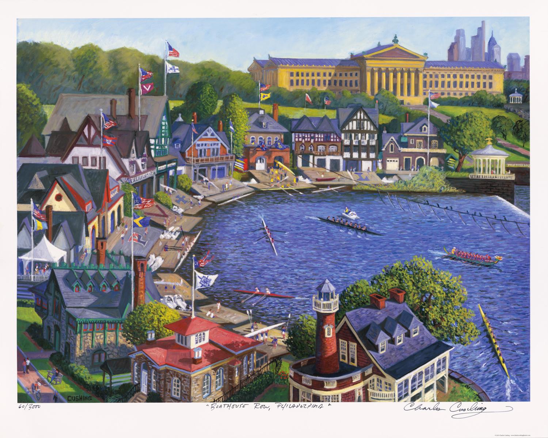 """Boathouse Row, Philadelphia"" 24 x 30"" $50.00"