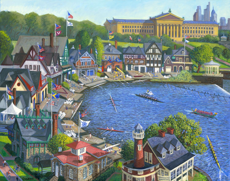 """Boathouse Row, Philadelphia""  42 x 52""  (sold)"""